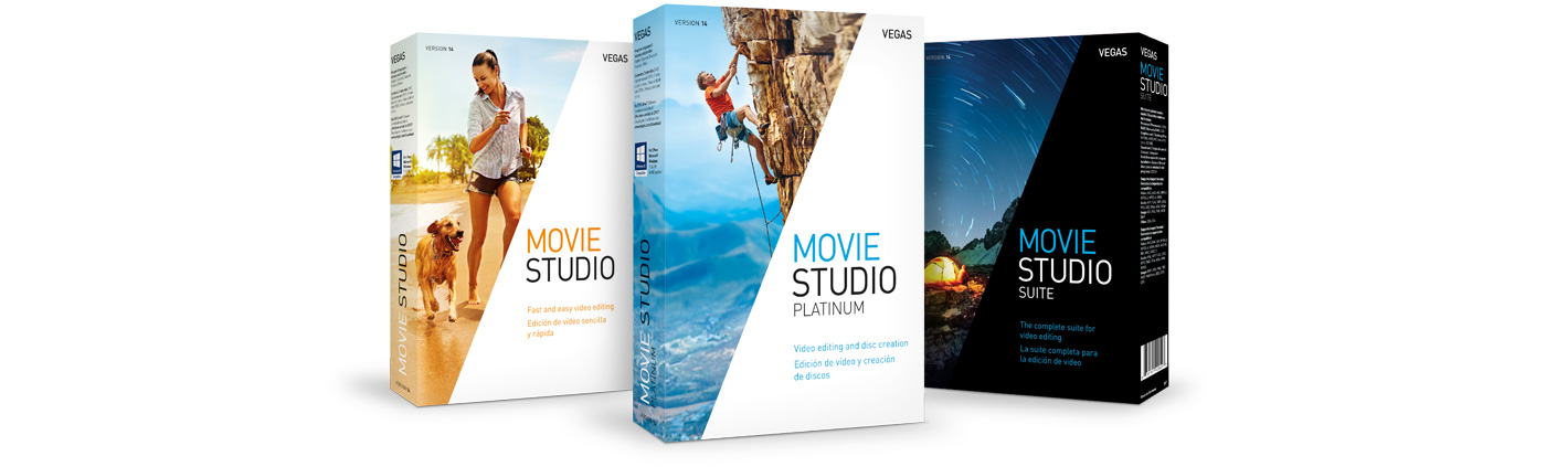 VEGAS Movie Studio 14 - Family of Products