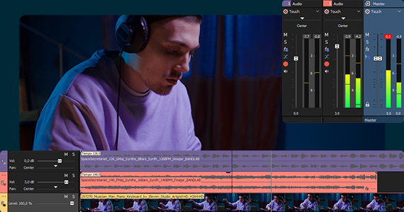 Audio editing with VEGAS Pro