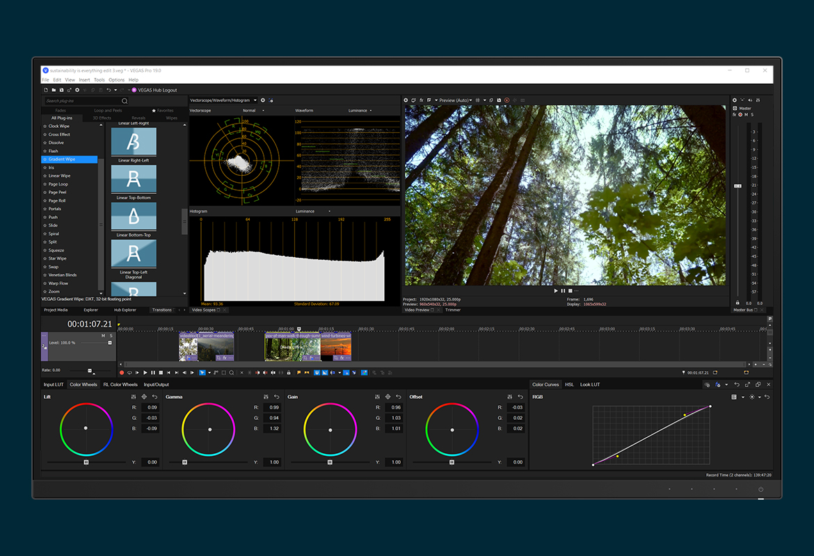 Video editing with VEGAS Pro