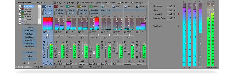 VEGAS Pro 14 - Audio editing