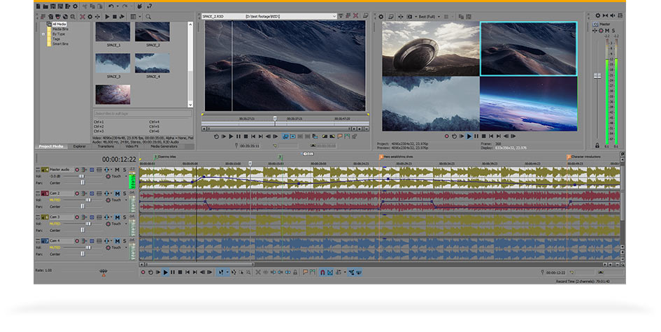 VEGAS Pro 14 - program overview