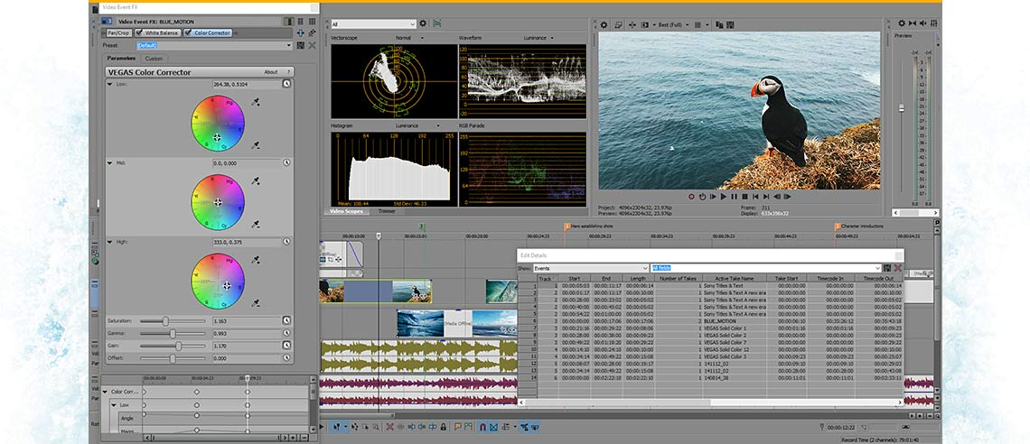 VEGAS Pro 14 Edit - program overview