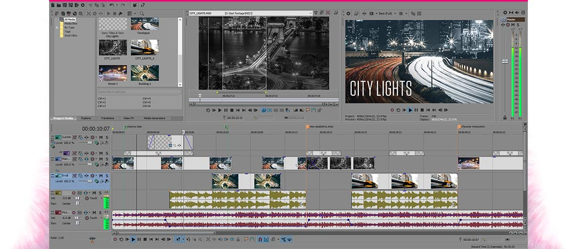 VEGAS Pro 14 Suite - program overview