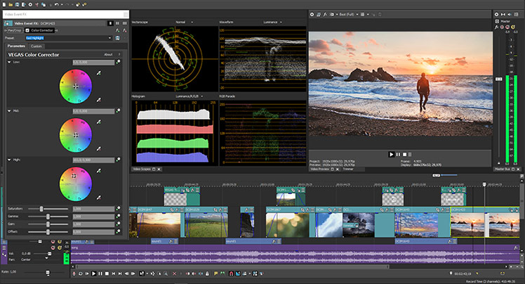 VEGAS Pro 15 - Workflow and UI features