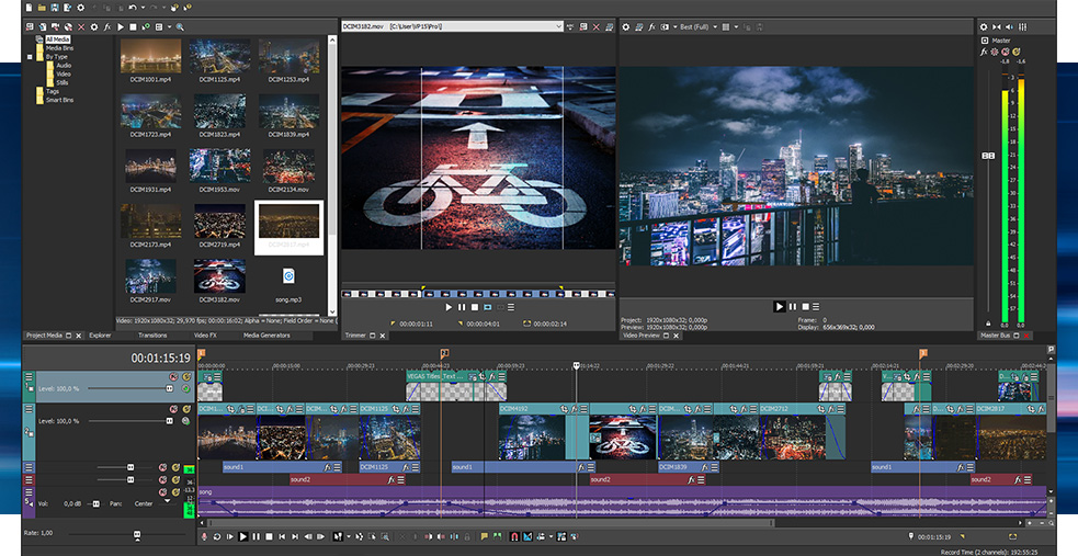 Vegas Pro – Customisable Workflow For Professional Video Editing