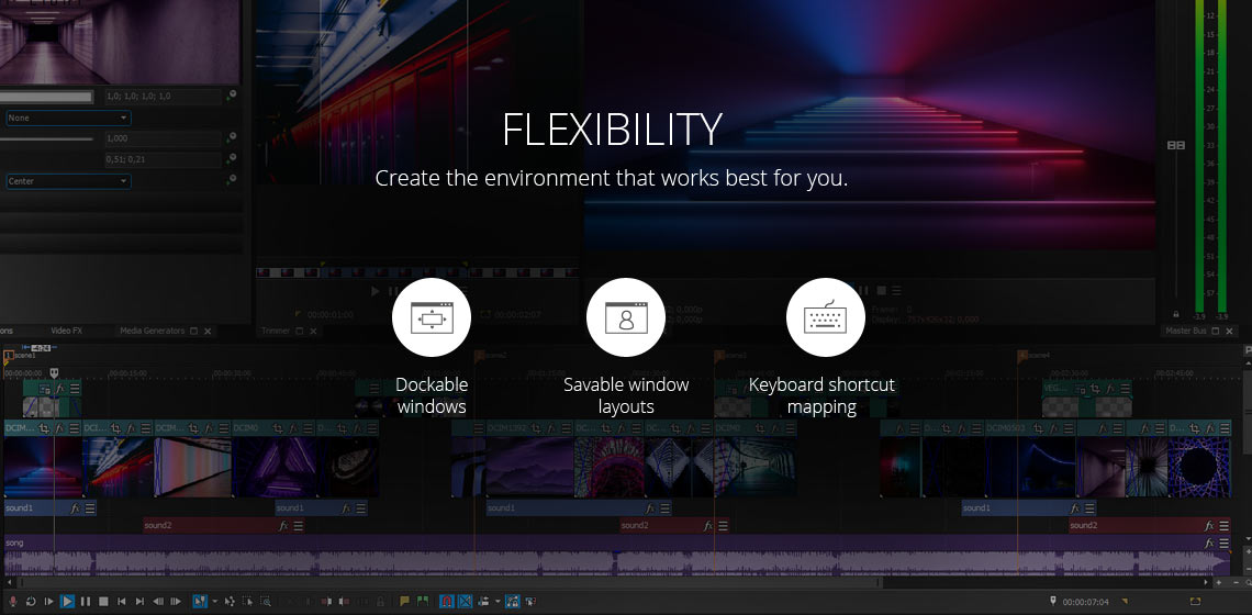 VEGAS Pro Suite - Award winning NLE with high-end plug-ins