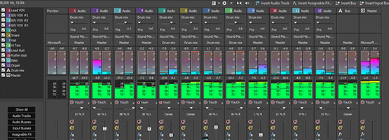 Complete multitrack audio environment