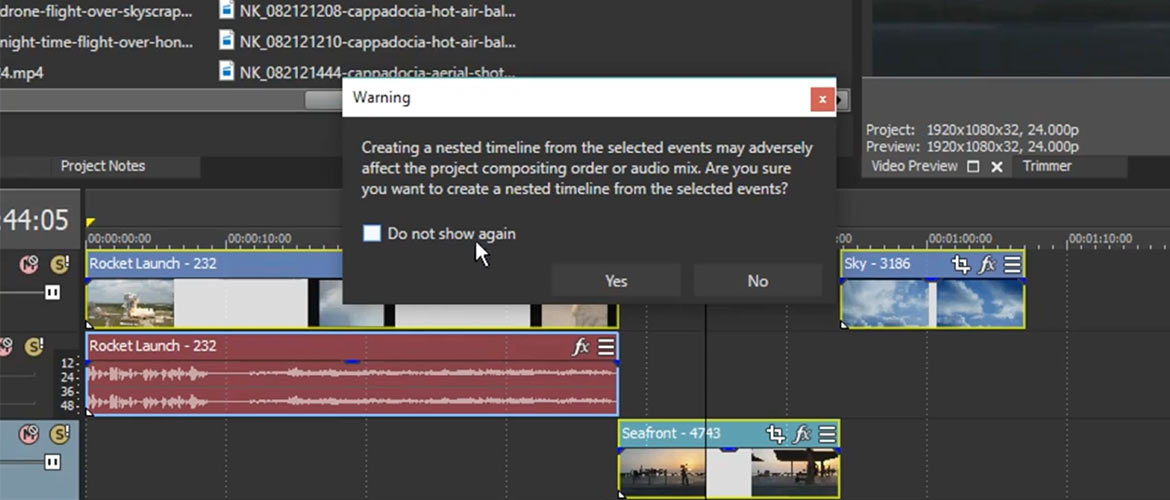 NESTED TIMELINES THE VEGAS PRO WAY