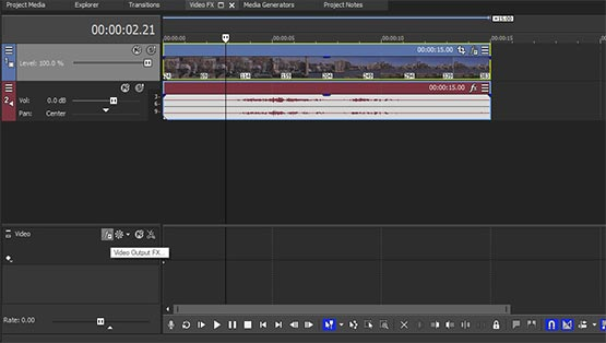 Video-Bus-Spur in VEGAS Pro