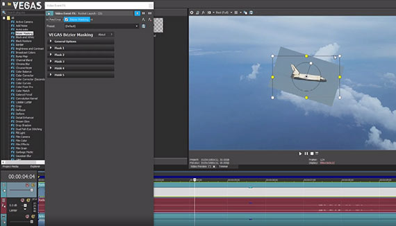 STEP 3:  Work With Bézier Masking in the Video Preview Window