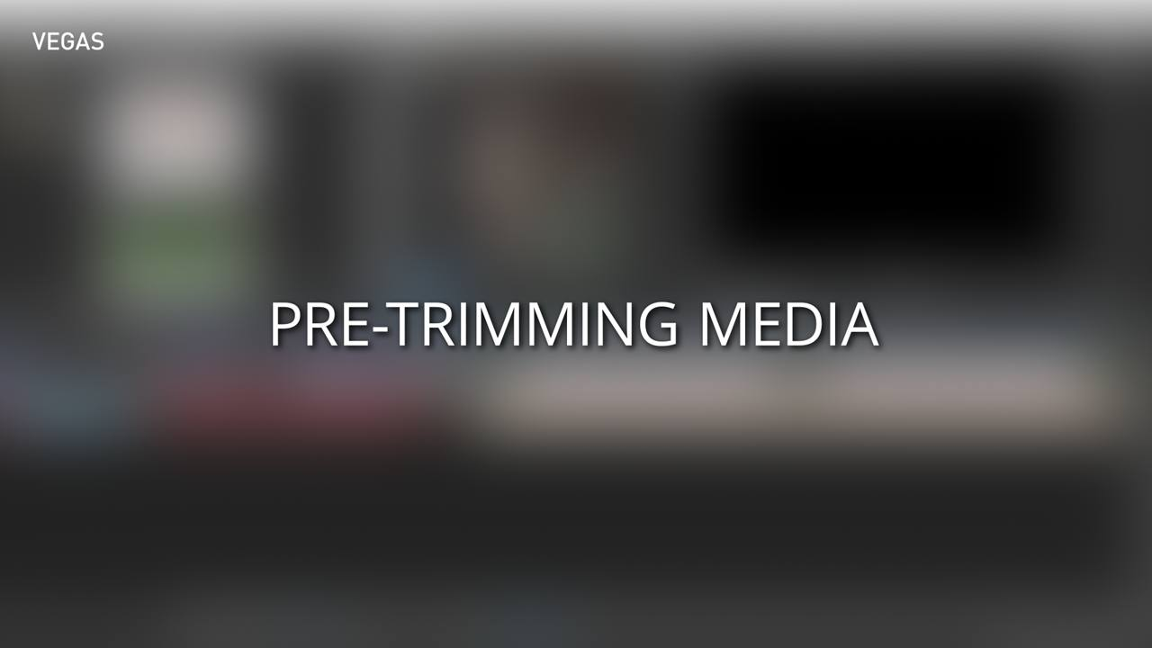 Pre-Trimming Media