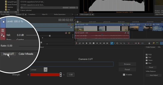 Step 4: Import a camera LUT