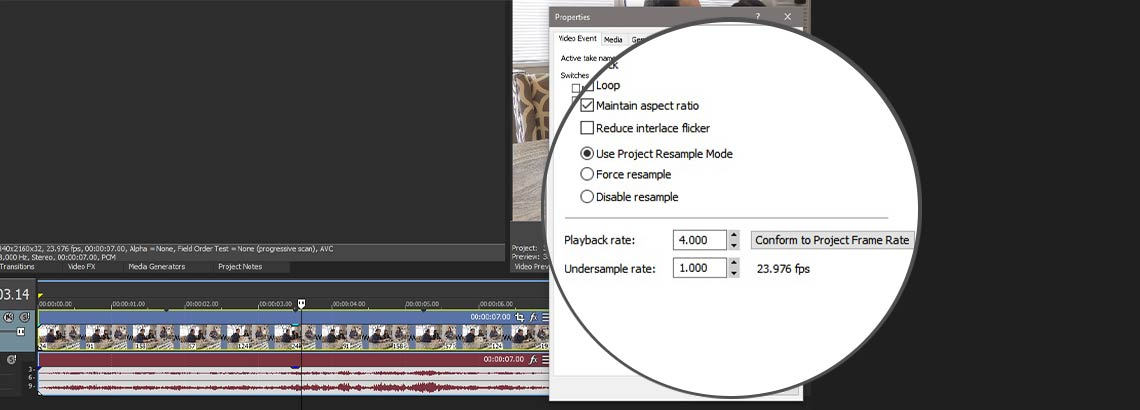 CHANGING SPEED IN VEGAS PRO