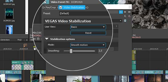 Apply Video Stabilization at the Event Level